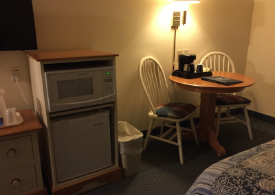 Microwave and Refrigerator in rooms